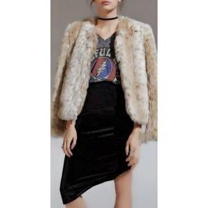 ❤💜Velvet Crush Skirt Black A-Line High/ Low Waist